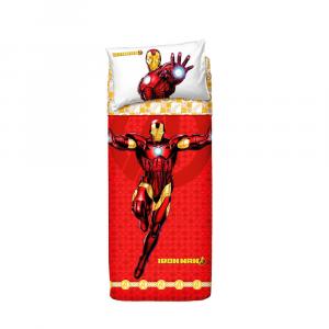 Set lenzuola letto singolo Ironman BASSETTI AVENGERS Iron Man
