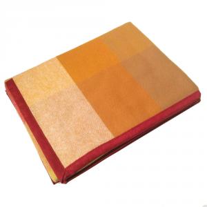 Coperta in pura lana 160x210 MARZOTTO-LANEROSSI Pamela arancio e blu