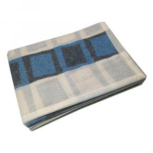 Coperta in misto lana 150x210 MARZOTTO-LANEROSSI Acireale blu