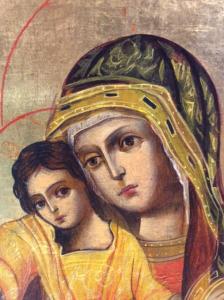 Icona Madonna con bambino di Svetlozar Mladenov 24 x 29 cm