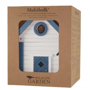 Casa per uccelli / WG103 - Multilok casetta Bianca e blu