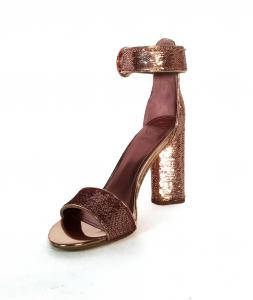 Sandalo oro rosa alla caviglia Guess