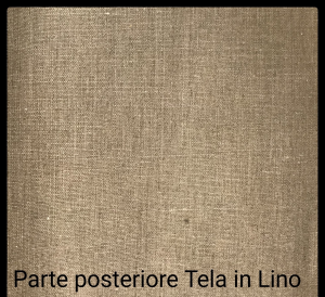 Centine telate 60x120 cm per dipingere in puro Lino - profilo 2 cm - curvo