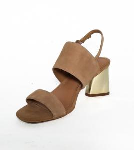 Sandalo beige con tacco metallizzato Guess