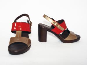 Sandalo bicolore Melluso