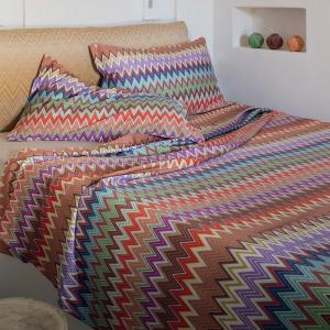 Set lenzuola matrimoniale Missoni Home VALENTINO 100 zigzag design