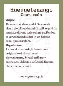 Caffè monorigine in cialda Guatemala Huehueguetenango, presidio Slow Food confezione da n. 50  cialde in carta ese 44 mm compatibili