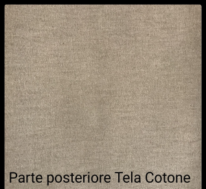Tele con profili curvi per dipingere in Puro cotone - profilo telaio  4 cm