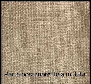 Tele profili curvi per dipingere in juta- profilo telaio 4 cm