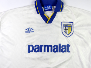 1993-94 Parma Maglia home #5 Apolloni match worn XL