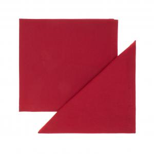 Set 4 tovaglioli puro cotone tinta unita orlo semplice 40x40 Rosso
