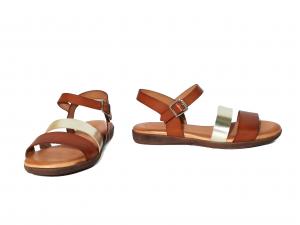 Sandalo cuoio/platino Raquel Perez
