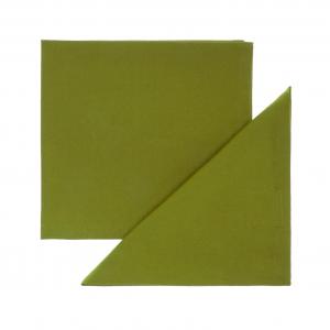 Set 4 tovaglioli puro cotone tinta unita orlo semplice 40x40 verde
