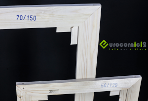 Telai 20x40 per tele - standard - profilo 2 cm - in legno di abete stagionato