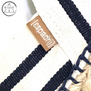 Espadrij - Stripes bianco blu