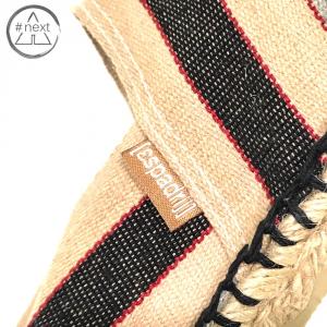 Espadrij - Stripes ecrù nero rosso