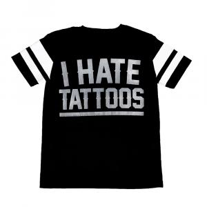 Camiseta perforada I ODIO I TATUAGGI