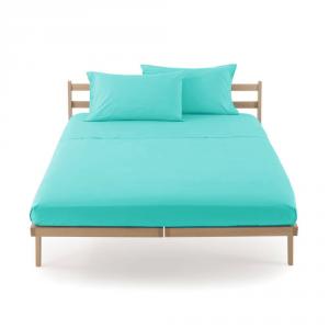Lenzuolo piano di sopra letto singolo 160x290 cm CLIC CLAC Zucchi - acqua 3245