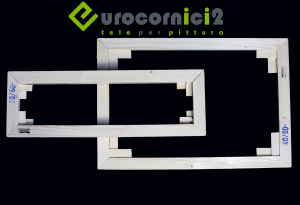 Telai 60x140 per tele - standard - profilo 2 cm - in legno di abete stagionato