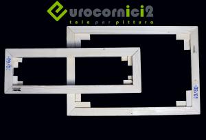 Telai 120x140 per tele - standard - profilo 2 cm - in legno di abete stagionato
