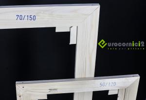 Telai 120x170 per tele - standard - profilo 2 cm - in legno di abete stagionato