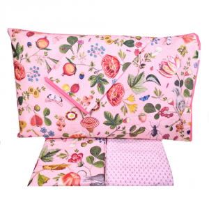Set lenzuola matrimoniale 2 piazze PIP STUDIO Woodsy rosa effetto copriletto