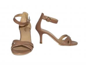 Sandalo nudo tacco basso Nero Giardini