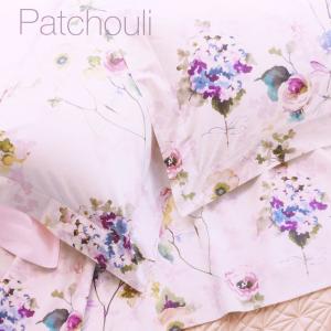 Completo lenzuola matrimoniale 2 piazze in percalle DONDI Patchouli bluette