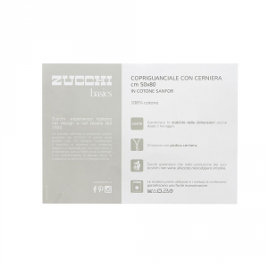 ZUCCHI copriguanciale interfedera con cerniera 50x80 cm cotone sanfor