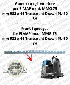 MMG 75 GOMMA TERGI anteriore per lavapavimenti FIMAP