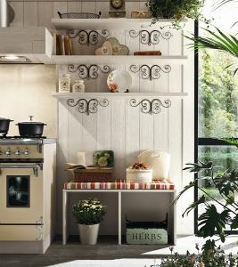 Cucina in legno laccata canapa stile Country