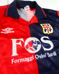 1990-91 Cagliari Maglia Home #8 Match worn (Top)