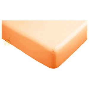Lenzuola con angoli matrimoniali per letti grandi 190x215 cm - arancione
