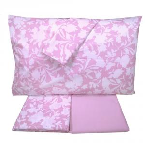 Set lenzuola matrimoniale 2 piazze SOMMA 100% percalle Tendence rosa