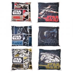 Star Wars 3 Cuscini Bassetti 40x40 cm REBEL VADER FALCON reversibili imbottiti