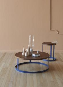 Tavolino in legno e ferro Zero