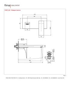 MISCELATORE LAVABO A PARETE BOCCA 198mm
