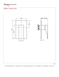 MISCELATORE INCASSO DOCCIA SERIE ZETA - F3969X1