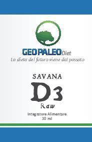 SCORTA 10pz Savana D3 Raw - VITAMINA D - 240.000 UI a flacone in Olio Extravergine di Oliva BIO - ORDINE MINIMO 10 PEZZI