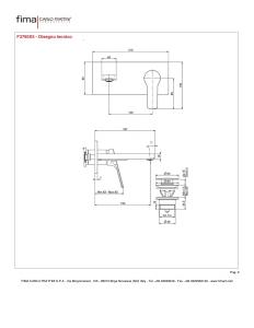 MISCELATORE LAVABO A PARETE BOCCA 153 mm SERIE 4 - F3760X5