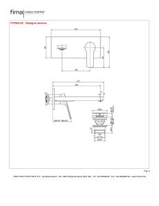 MISCELATORE LAVABO A PARETE BOCCA 203 mm SERIE 4 - F3760LX5