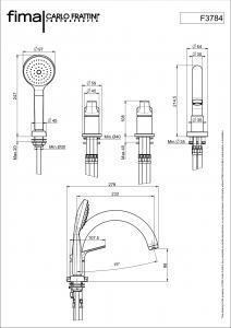 MISCELATORE BORDO VASCA CON BOCCA SERIE 4 - F3784/4