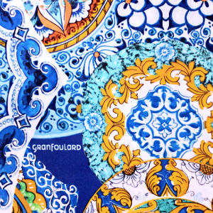 Bassetti Granfoulard furnishing cloth CALTAGIRONE v.3 pure cotton 350x270 cm
