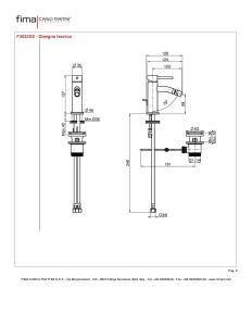 MISCELATORE BIDET XS SERIE SPILLO UP - F3032XS