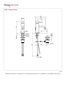 MISCELATORE LAVABO XS SERIE SPILLO UP - F3031