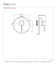 MISCELATORE INCASSO DOCCIA SERIE SPILLO UP - F3039X1