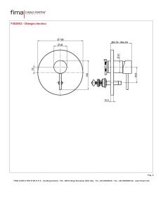 MISCELATORE INCASSO CON DEVIATORE A 2 USCITE SERIE SPILLO UP - F3039X2