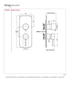 MISCELATORE INCASSO CON DEVIATORE A 2 O 3 USCITE SERIE SPILLO UP - F3039X6
