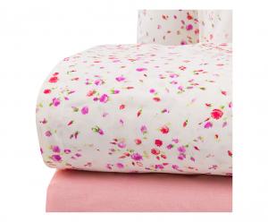 Set lenzuola matrimoniale 2 piazze ZUCCHI LUCY puro cotone - rosa