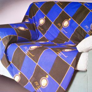Telo arredo copritutto mille usi INTER nero-azzurro 170x290 cm